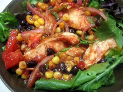 Tex-Mex Chicken, Corn, and Black Bean Salad
